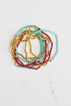 Crystal Beaded Bracelets in Tapestry