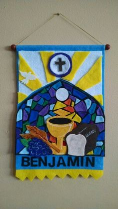 Boys communion banner