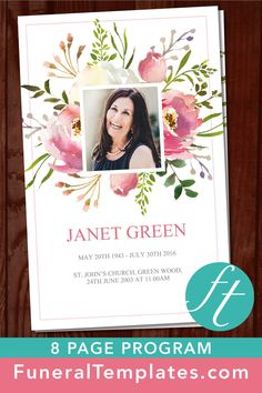 the 730 best 8 page funeral program templates images on pinterest in