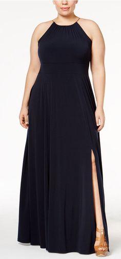 Plus Size Braided Halter Maxi Dress