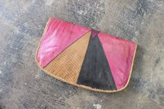 Vintage Clutch / Patchwork Leather Purse / Casual Bohemian Clutch on Etsy, $37.00
