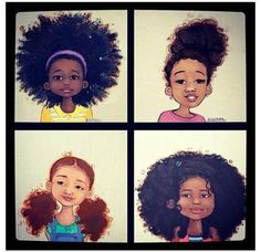 youngblacknappy:    Little Black girls of all shadesw/ beautiful #naturalhair? You know I love it! #teamnatural #art