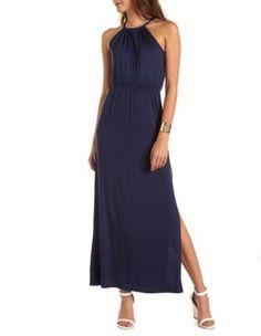 Tie-Back Knit Maxi Dress