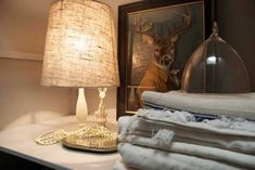 table lamp with linen fabric shade