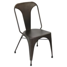 Austin Industrial Dining Chair - Set Of 2 in Antique Finish Bring the perfect dose of industrial decor to your space with the Austin Dining Chair. Industrial Dining Chairs, Contemporary Dining Chairs, Metal Chairs, Contemporary Furniture, Dining Chair Set, Dining Room Chairs, Side Chairs, Industrial Style, Home Decor