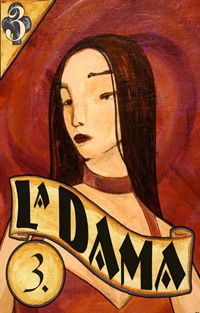 The lady loteria card illustrated and uniquely painted by Ted Puffer