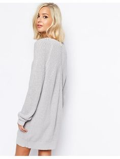 River Island Zip Back Jumper Dress - Grey http://sellektor.com/all?q=river+island