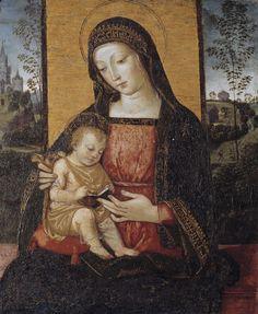 The Virgin and Child / La Virgen y el Niño // ca. 1490-1495 // Bernardino Pinturicchio // Isabella Stewart Gardner Museum