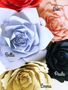 Paper flower tutorial paper flower backdrop Paper by PaperFlora