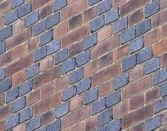 An example of 'diaper work' pattern  were blue bricks are used for a more elaborate look. This brickwork is from 1880, Bromley Kent, Staffordshire