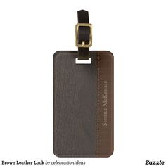 Sold #Brown #LeatherLook #LuggageTags Available in different products. Check more at www.zazzle.com/celebrationideas