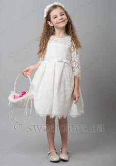 Custom flower girl dress