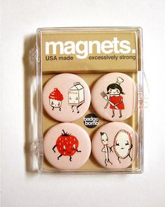 Magnet Pack Kitchen Party by theblackapple on Etsy - 10.00