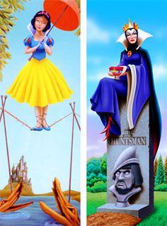 I love the haunted mansion. These interpretations of the stretching paintings are so awesome. My favorite's always been the tightrope walker. She was so pretty.