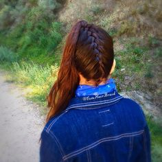 upside down french braid  into a high ponytail  #upsidown #ponytail #braids #frenchbraid #trenzas #peinados #hairstyle