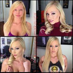 Porno-Stars ohne Make-up