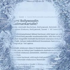Suomi Bollywoodin maailmankartalle - Finland to the world map of Bollywood