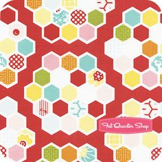 Simply Sweet Red Hexie Quilt Yardage SKU# C3463-RED - Fat Quarter Shop