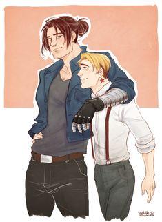 cute twink steve with his sometimes-punk boyfriend bucky