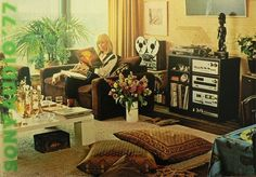 sony audio 1977  interior livingroom seventies.