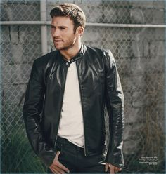 Brian Higbee photographs Scott Eastwood in a Rag & Bone leather jacket with a Hanes t-shirt and Belstaff trousers. Fashion leather articles at 60 % wholesale discount prices Scott Eastwood, Leather Fashion, Leather Men, Leather Jackets, Men's Fashion, Fashion Weeks, London Fashion, Back In The Game, Rpg