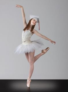 Senior Portrait / Photo / Picture Idea - Girls - Dance / Dancer / Ballet / Ballerina - Graduation Cap