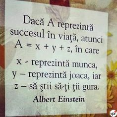 Succesul in viata - Viral Pe Internet Motivational Quotes, Inspirational Quotes, Reality Of Life, Story Instagram, Mood Pics, Albert Einstein, Spiritual Quotes, Beautiful Words, Kids And Parenting