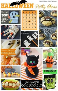 Planning a spooktacular Halloween party for school or friends is no problem when you've got our guide to the ultimate not so scary Halloween Party Ideas. Haloween Party, Halloween Class Party, Halloween Games, Holidays Halloween, Spooky Halloween, Halloween Treats, Halloween Decorations, Halloween Pumpkins, Halloween Goodies