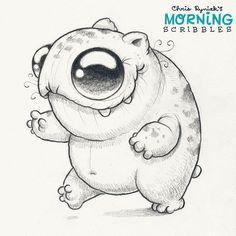 Gerbil Bear! #morningscribbles
