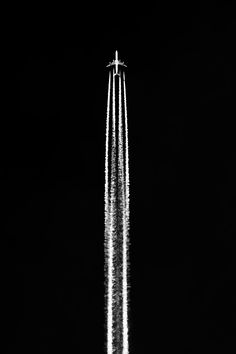 Avion / noir et blanc / Photographie