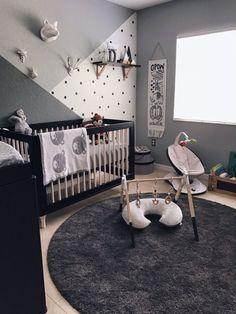 Nursery in deep monochromatic gray