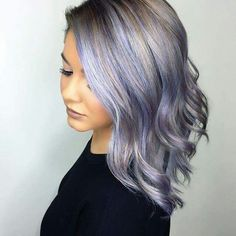 Hairstyles 50 Lovely Purple -Lavender Hair Colors in Balayage and Ombre,Pastels are in proper now, and what higher shade of pastel than extremely flattering and female lavender hair? Lavender and lilac hair colours are a s. Pastel Purple Hair, Lavender Hair Colors, Hair Color Purple, Silver Lavender Hair, Pastel Grey, Lilac Hair, Hair Colours, Blue Ombre, Ombre Hair