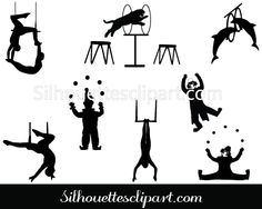 Circus Silhouette Vector Graphics Download Circus vectors