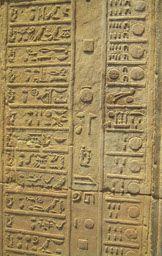 Calendar on temple wall.