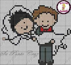 This Pin was discovered by Sve Cross Stitch Music, Mini Cross Stitch, Cross Stitch Cards, Cross Stitching, Cross Stitch Embroidery, Embroidery Patterns, Pixel Crochet Blanket, Wedding Cross Stitch Patterns, Pixel Pattern