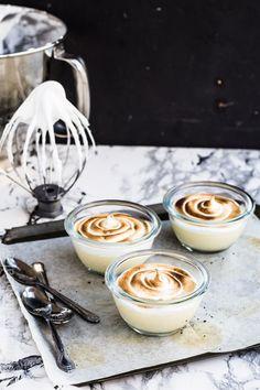 Toasty Marshmallow Honey Panna Cotta (Traditional style)
