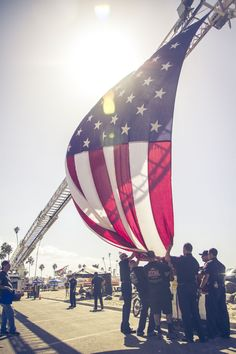Oceanside Harbor Days 2014 Firefighters raise the flag - Harbor Days 2015 is Sept 26 & 27