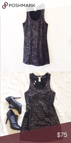 Alice + Olivia Sequin Mini Dress A couple of loose threads but in really good condition. It's short and looks great with sky high heels. Size Small. Black. Alice + Olivia. Alice + Olivia Dresses Mini
