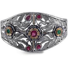 Emma Chapman Jewels - Ki Cuff ($3,190) ❤ liked on Polyvore featuring jewelry, bracelets, oxidised jewellery, leaf jewelry, special occasion jewelry, leaf bangle and holiday jewelry