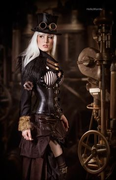 steampunk fashion | would be an awesome halloween costume!!  #Steampunk fashion - ☮k☮