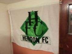 The Hendon flag sporting the badge introduced by Victor Green.