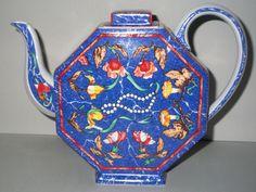 HERMES PARIS Large TEA POT 145cl PORCELAIN Marqueterie de Pierres d´Orient   Pottery & Glass, Pottery & China, China & Dinnerware   eBay!