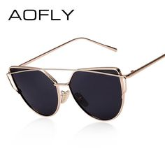d4853905c8b0 AOFLY Polarized Sunglasses Vintage Classic Brand Designer Twin-Beams Shades