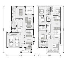 Floor Plan Modern House Plans, Family House Plans, Dream House Plans, House Floor Plans, Storey Homes, Interior Design Boards, Hamptons House, Moving House, Home Design Plans