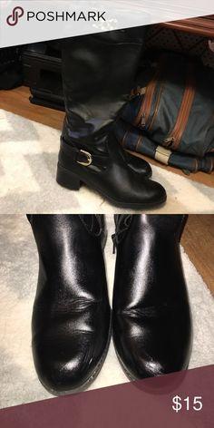 Tall zip boots Good condition. Minor scuffing Karen Scott Shoes Heeled Boots