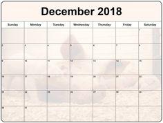 December 2018 Calendar Printable  #DecemberCalendar2018