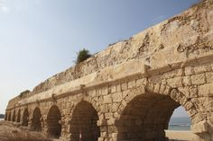 Herod's Aqueduct: An aqueduct built by Herod the Great to carry water from springs below Mount Carmel to Caesarea, 10 miles (16 km) away.