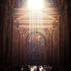 Vatican...  I wish you could see the image better.  What looks like a painting in this picture is a mosaic.  The tiles are the size of teeth.  Amazing.