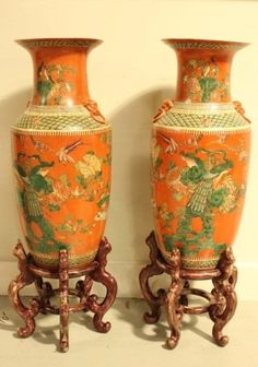 Asian Antiques China Professional Sale Vintage Chinese Yellow Ground Famille Vert Vase