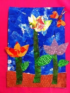 CAC Primary Art: Prep S Eric Carle inspired flower collage